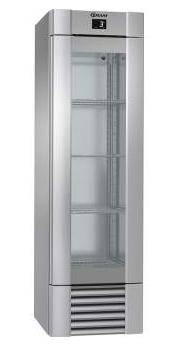 Gram ECO MIDI koelkast RVS enkeldeurs en glas (KG 60 CCG 4S)